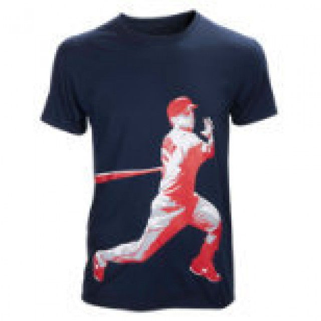 New Balance Dustin Pedroia Big Swing Tee (navy) (large)